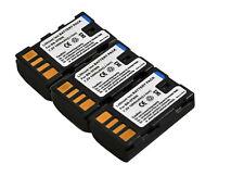 New 3x Batteries BN-VF808 VF808U For JVC GZ-MG120 MG130 MG131 MG132 HD7B GR-D851