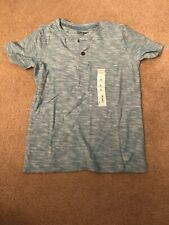 Jumping Beans 2 Button Henley Tee Youth Size 6 Short Sleeve Green