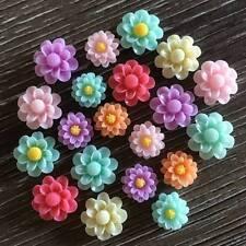 20x Pastel Daisy Flower Resin Cabochon Flatback Embellishments Craft DIY