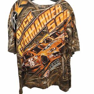 2015 Texas Motor Speedway Duck Commander 500 Orange Camo All Over Print XL
