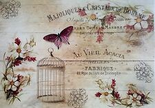 - Sheet of Rice Paper - for Decoupage - Vintage Board  - Scrapbooking