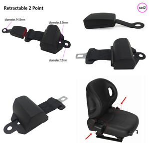 1 Set Black Adjustable Retractor&Buckle Auto Car Safety Seat Belt Lap Seatbelt