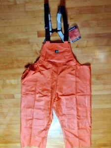 Carhartt Surrey PVC Bib Overall 100101800 Orange Men's Size 2XL XXL Regular