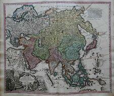Asia Continent Ottoman Empire Arabia India China c.1750 Homann decorative map