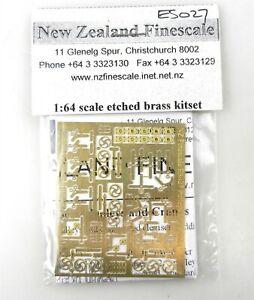 Vtg New Zealand Finescale S ES027 Etched Brass Kit et Pulleys & Cranks~NOS~T123C