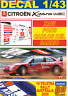 DECAL 1/43 CITROEN XSARA WRC XAVI PONS R.AUSTRALIA 2006 4th (01)