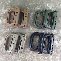 5pc Molle Tactical Hiking Clip Carabiner Locking D-Ring Hook Safety Buckle New