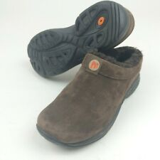Merrell Slipper Shoes Brown Suede Leather Womens Size 6 EU 36