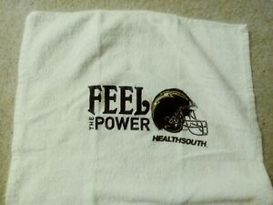 San Diego Chargers Rally Towel Stadium Give A Way Sponsor HealthSouth