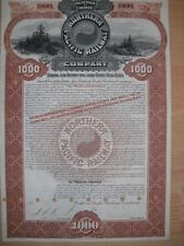 Northern Pacific Railway Company  1896  1000$ Gold Bond