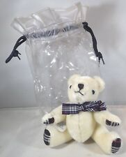 Small 14cm Burberrys Mohair Jointed Teddy Bear in Original Plastic Bag