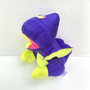 "Vintage Fisher Price Puffalump Dino Roar Purple Pterodactyl Dinosaur 1992 8"""