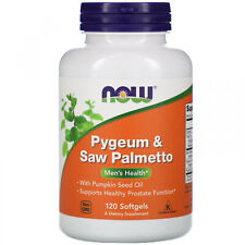 Now Foods, Pygeum And Saw Palmetto, 120 Softgels