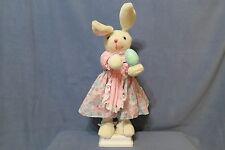 "Easter Decor - Gemmy Indust. Animated Musical Bunny Rabbit Painting Egg 23"" Tall"