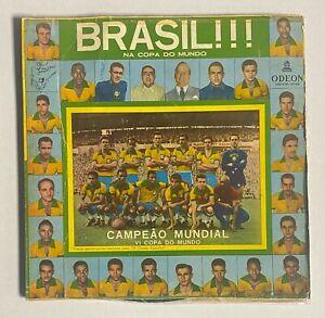 1958 Gazeta Esportiva Uncut Soccer Sheet w/ PELE RC Rookie Card + Vinyl Record