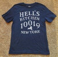 NWT Men's Blue Short Sleeve New York Graphic Top T-Shirt Small
