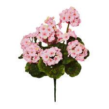Geranium Bunch Faux Silk Artificial 47cm/ 18.5 Inches x 9 Heads Pink