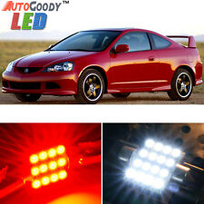 8 x Premium Red LED Lights Interior Package Kit for Acura RSX 2002-2006