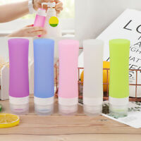 80ML Portable Cosmetic Refillable Silicone Bottle Travel Bath Shampoo Pack sp
