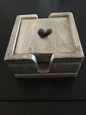 Unbranded Wooden Heart Coasters