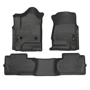 Husky Liners 98241 Black Front & 2nd Seat Floor Liners for Silverado/Sierra 2500