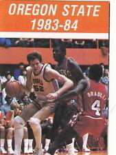 1983-84 OREGON STATE BEAVERS BASKETBALL POCKET SCHEDULE