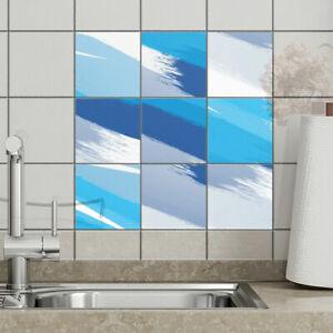 Fliesenaufkleber - BLUES - Fliesensticker Fliesenfolie - Bad & Küche