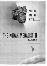 Kodak Medalist II Camera Instruction Manual, 1947