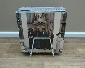 "VINYL LP WHITE STORAGE RACK STAND 12"" Vinyl Record Box holds approx 45 LPS"
