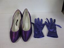 Mannequin's purple shoes with gloves size 10m