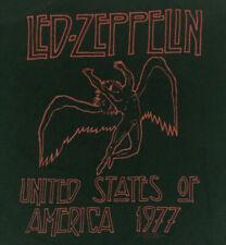 Led Zeppelin Men's T-Shirt United States 1977 Red Logo Tour Concert Rock Size Xl