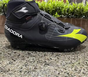 Diadora Polarex Plus Road Cycling Shoes For Winter Black Fluo Yellow Size 12 US