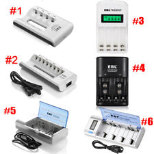 EBL Universal Smart Rechargeable Battery Charger For AA AAA Ni-MH Ni-Cd C D 9V