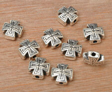 30pcs Tibetan Silver Cross Spacer Beads DIY Jewelry Findings 10MM G3378