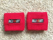 Ralliart 2 x Clutch Brake Oil Reservoir Fluid Tank Cover Sock Red Evo Rally Art