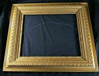 Lg Wooden Picture Frame -- Gold, Antique, Ornate, w/ Gesso Damage - For Pickup