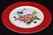 "Philippe Deshoulieres, Limoges, Multi Flowers & Red Roses, 11 3/4"" Dinner Plate"