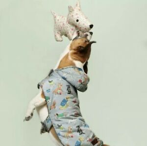 BNWT Cath Kidston Fleece Lined Dog Coat Rain Mac Novelty Print Small NEW