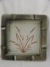 Vintage Collectable Australian Pottery ~ Ellis Pottery Ashtray ~ Wheat Pattern
