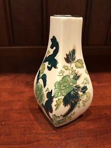 Mason's Chartreuse Made in England Bud Vase, Asian Style, Green, Yellow & Gold