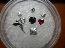 Fairy Tinkerbell Floating Charm fits Living Memory Owl Locket  7p Black & Sl