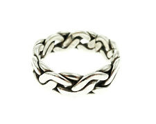 Mexico Sterling Silver Puzzle Band Style Ring Size-8.75