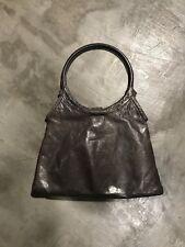 Sabina New York Purse Evening Bag Grey Leather Shoulder Bag Tote Satchel