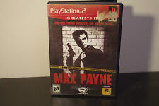 Max Payne [Greatest Hits]  (Sony PlayStation 2, 2002) *Tested/Complete