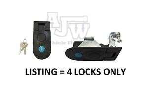 4 X Large Compression Latch / Lock Black Locking C5 Horsebox, Locker, Trailer