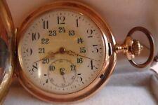 GLASHÜTTE - 585-er  3-Deckel  Gold-Taschen-Uhr voll - Funktionsfähig - 91 Gramm