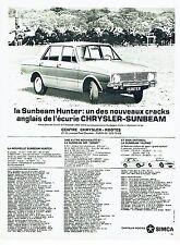 Publicité Advertising 037  1966   la Chrysler Rootes Simca    Sunbeam Hunter