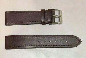 Pulsera Correa de Reloj Piel Legítima Cuero 20 mm Marrón Oscuro   Watchband 240