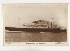 British Railway Steamship SS Amsterdam Vintage RP Postcard 542b