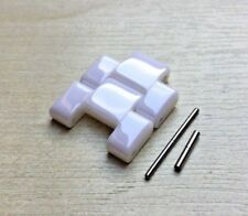 2 White Ceramic LINK Fits Emporio Armani AR1403/AR1416/AR1415/AR1408 spare strap